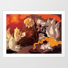 Fox Spirits Art Print