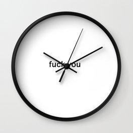 Minimal Fuck Wall Clock