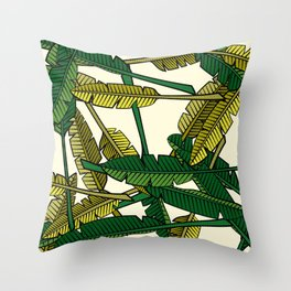 Botany: Banana Leaves Throw Pillow