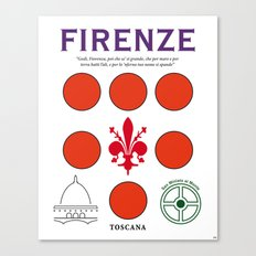 Firenze Tuscany Italy Vintage Decoration Print Posters Canvas Print