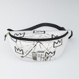 Ferris Wheel, Banksy Pays Tribute To Jean-Michel Basquiat, Artwork, Tshirts, Posters, Bags, Prints, Fanny Pack