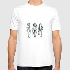 Brush Pen Fashion Illustration - East Coast Girls MEDIUM White Mens Fitted Tee