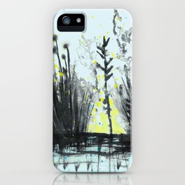 Cattails in the grass iPhone Case