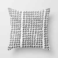 music notes Throw Pillows featuring MUSIC Notes  by Geryes