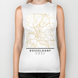 DÜSSELDORF GERMANY CITY STREET MAP ART Biker Tank