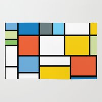 simpsons Area & Throw Rugs featuring The Colors of / Mondrian Series - Simpsons by hyos
