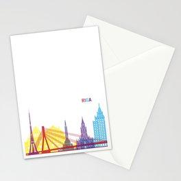 Riga skyline pop Stationery Cards