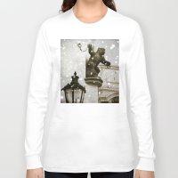 prague Long Sleeve T-shirts featuring Prague  Gargoyle by Bella Blue Photography