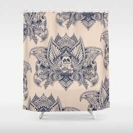 Lotus Mandala Pug Shower Curtain