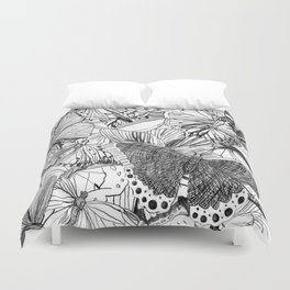 Crowded Duvet Cover