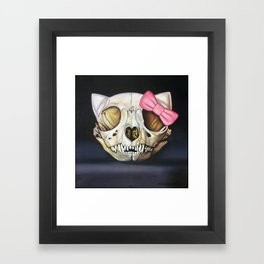 Goodbye Kitty Framed Art Print