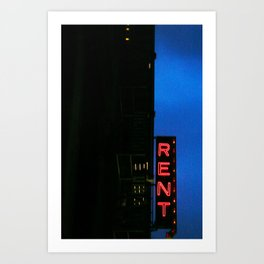 Rent the Musical on Broadway Art Print