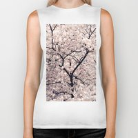 cherry blossom Biker Tanks featuring Cherry Blossom * by Neon Wildlife