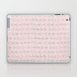 Contemporary Pink and Mint Arrow Pattern Laptop & iPad Skin