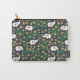 Elephant: Gold Carry-All Pouch