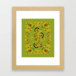 Rosemaling Folk Art Framed Art Print