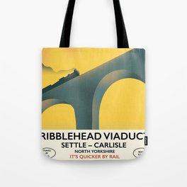 Ribblehead Viaduct Yorkshire Tote Bag