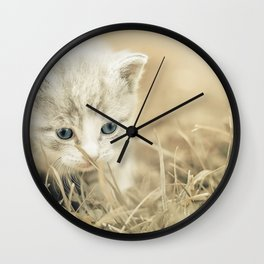 Baby Cat Wall Clock