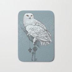 Secrets of the Snowy Owl Bath Mat