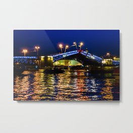 Raising bridges in St. Petersburg Metal Print