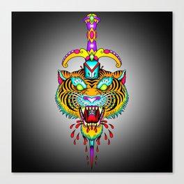 Tiger Meets Dagger Canvas Print
