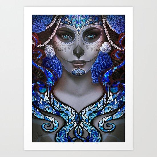 Blue Death Art Print