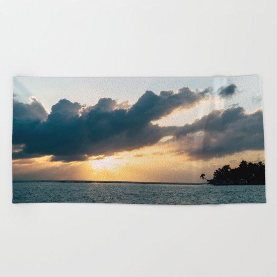 Island Sunset Beach Towel