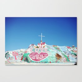 Salvation Mountain in the Californian Desert Canvas Print