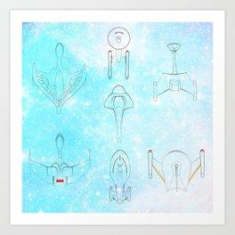 Little Ships Art Print