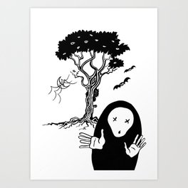 The tree that sees everything II - El árbol que todo lo ve II. Art Print
