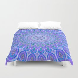 Lights Of Avatar Mandala - Faded Duvet Cover
