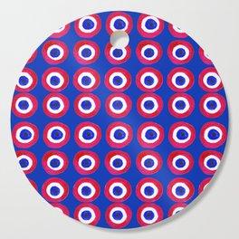 Donut Evil Eye Amulet Talisman - red on blue doughnut Cutting Board