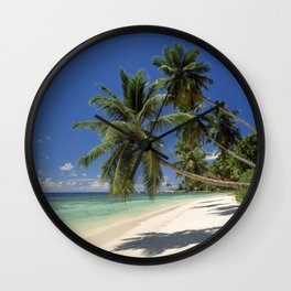 Palm beach, the Seychelles, La Digue island, Wall Clock