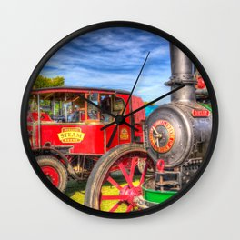 Traction Engine and Steam Lorry Wall Clock