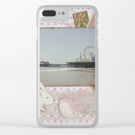 Happy Easter Santa Monica Pier Greeting Clear iPhone Case
