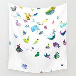 Chickens! Wall Tapestry