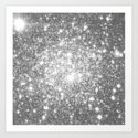 Silver Gray Galaxy Sparkle Stars by lilkiddies