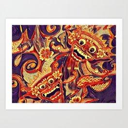 Barong Bali Mononoke Art Print