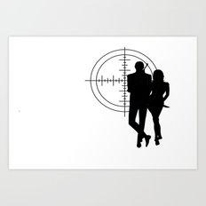 Double Oh Target... Art Print