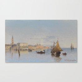 "Karl Kaufmann (Austrian, 1843-1905), ""Blick auf Venedig"" (1890) Canvas Print"
