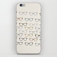 glasses iPhone & iPod Skins featuring glasses by jamiejoyet
