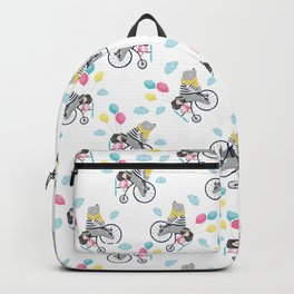 Cute bear and little girl pattern design. Backpack