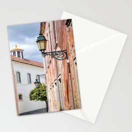 Pretty old street in Faro, Portugal Stationery Cards