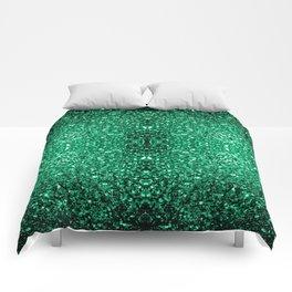 Beautiful Emerald Green glitter sparkles Comforters