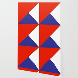 Triangles Retro Pop Art Abstract - Red White Blue Series Wallpaper