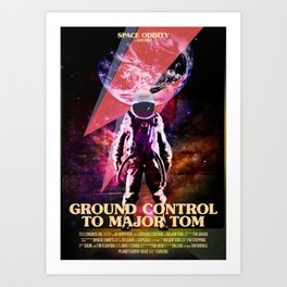 Rocket man (former Space Oddity) Art Print