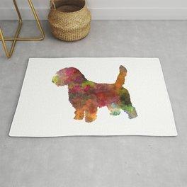 Petit Basseft Grifon Vendeen in watercolor Rug