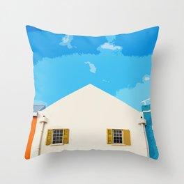 Bridgetown Barbados (Art Version) Throw Pillow