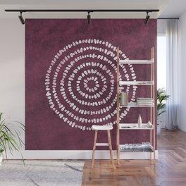 Yoga Stones in Wine Wall Mural
