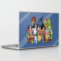 teen titans Laptop & iPad Skins featuring Teen Titans by poopsmoothie